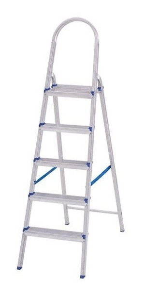 Escada Alumínio 5 Degraus - Real
