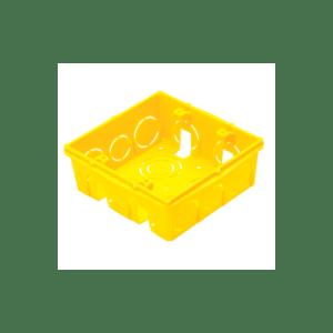 Caixa de Embutir Quadrada 4x4 Amarela Tramontina