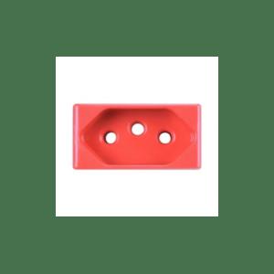 Módulo Tomada 2P+T 20A 250V Vermelho Tramontina