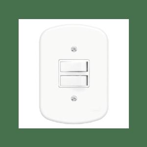 2 Interruptores Simples 4x2 10A 250V Blanc Fame
