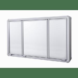 Armário Plástcio Sobrepor Perfil Aluminio 3 portas Astra