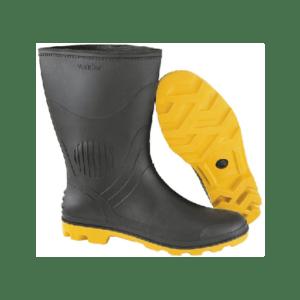 Bota de PVC Preta e Amarela
