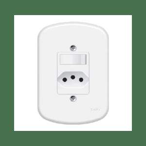 Interruptor e Tomada 4x2 2P+T 10a 250v Blanc Fame