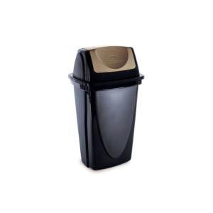 Lixeira de Plástico Tampa Basculante Ecoblack Plasútil